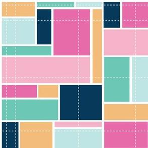 Pop Blocks Multicolor Geometric