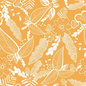 On safari tropical leaf pattern