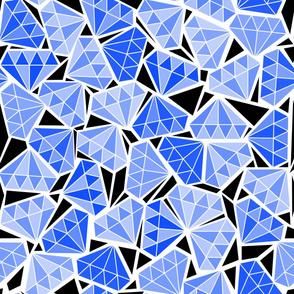 diamonds in the rough - blue
