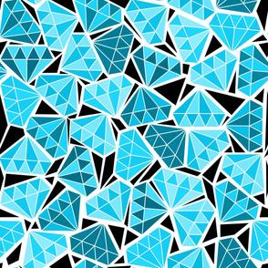 diamonds in the rough - ice blue