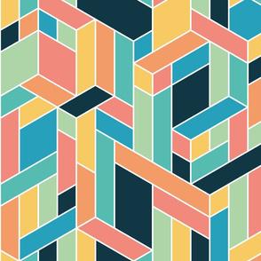 Isometric-Colour-Blocking