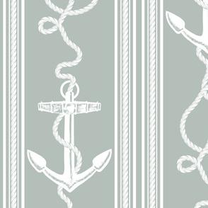 Anchor Rope Ocean Gray