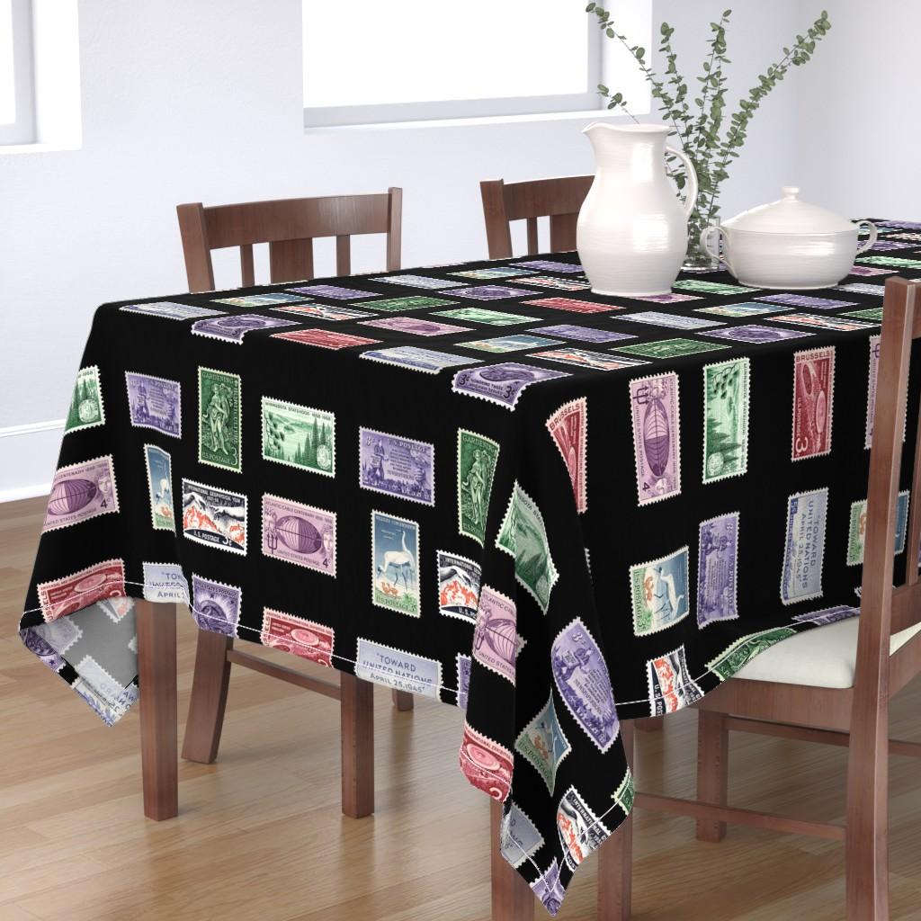 Bantam Rectangular Tablecloth featuring stamp fat quarter 1 by keweenawchris