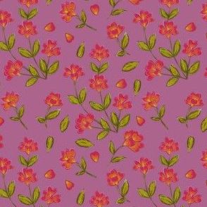 Origami Pressed Flower // Pink