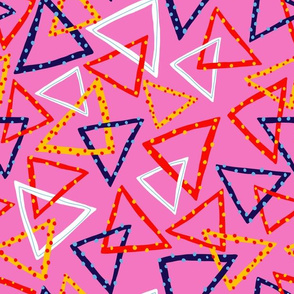 Dotty Triangles - Pink