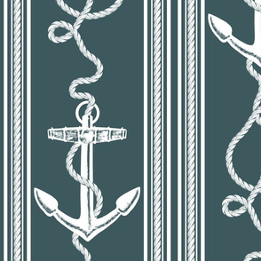 Anchor Rope Ocean Night