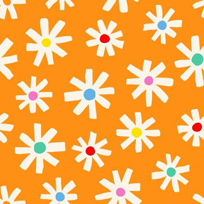 Flower Burst - Orange