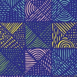 Teppich Colorblocking gro