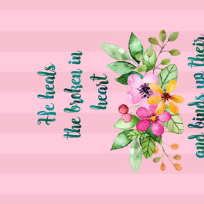 Floral Bible Quote Teatowel In Pastel Colors