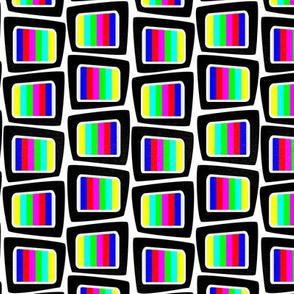 No signal tv colour block