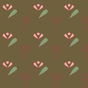 Laidback floral - brown