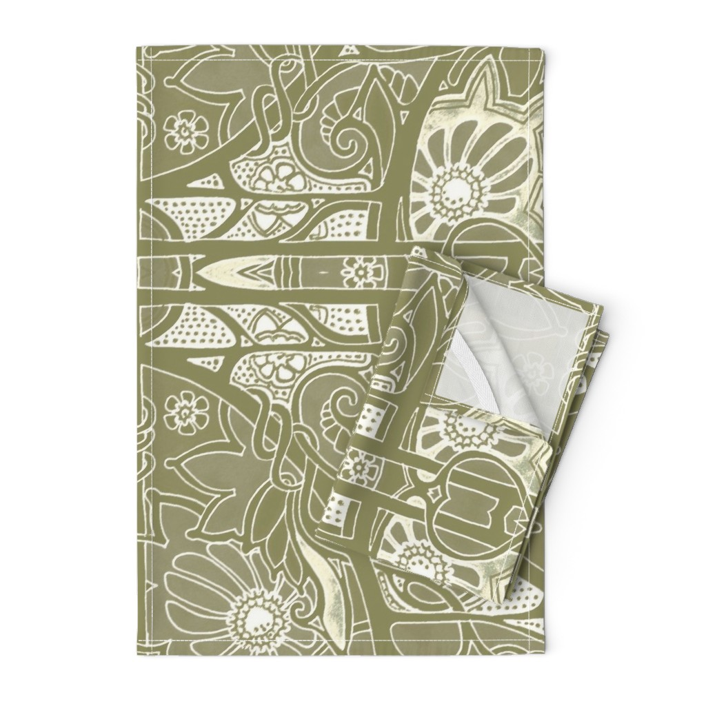 Orpington Tea Towels featuring Warm Spring Slumber by edsel2084