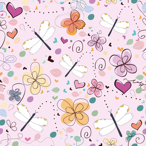 Abstract Decorative Summer Pattern Illustration Background