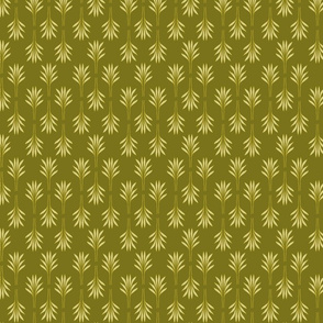 Exotic Leaves olive green