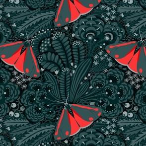 Cinnabar moth. The power of color.