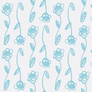 blue wave modern floral-wt