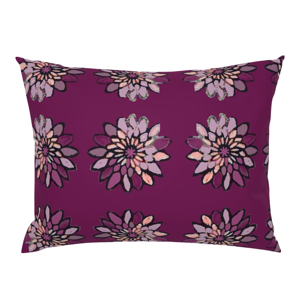 Campine Pillow Sham featuring Purple Floral on Purple by maria_pezzano