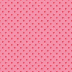Bubblegum Pink with Dark Pink Dots
