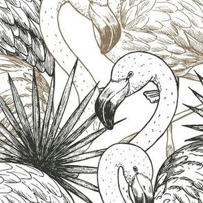 Flamingo forest