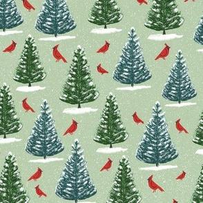 cardinals and pines green