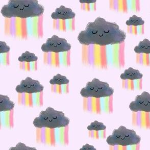 Kawaii Rainclouds-Pink