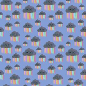 Kawaii Rainclouds-Blue