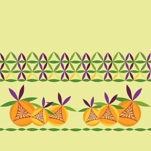 Citrus border on lemon