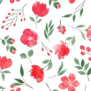 Red Flower Garden/Christmas
