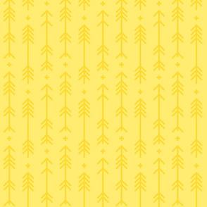 cross + arrows lemon yellow tone on tone