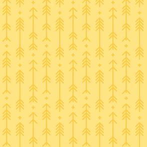 cross + arrows sunshine yellow tone on tone