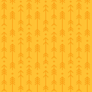 cross + arrows golden honey tone on tone