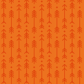cross + arrows orange tone on tone