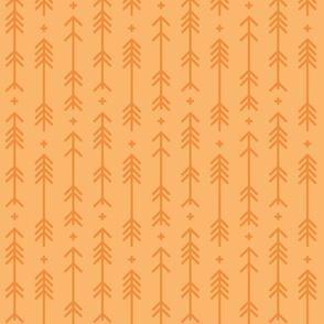 cross + arrows mango orange tone on tone