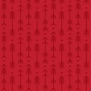 cross + arrows red tone on tone