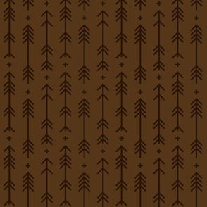 cross + arrows brown tone on tone