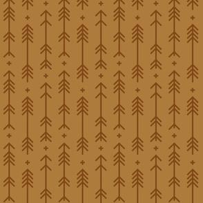 cross + arrows caramel tone on tone
