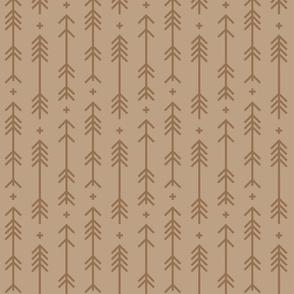 cross + arrows tan tone on tone