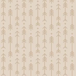 cross + arrows sand tone on tone