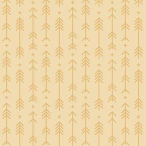 cross + arrows creamy banana tone on tone