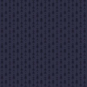 tiny cross + arrows midnight blue tone on tone