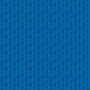 tiny cross + arrows royal blue tone on tone