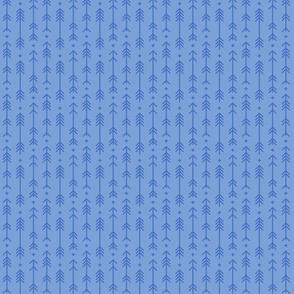 tiny cross + arrows cornflower blue tone on tone