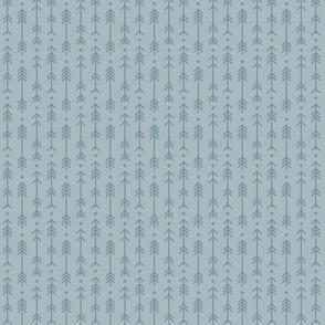 tiny cross + arrows slate blue tone on tone