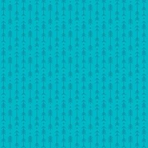 tiny cross + arrows surfer blue tone on tone
