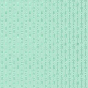 tiny cross + arrows mint green tone on tone
