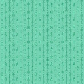 tiny cross + arrows sea foam green tone on tone