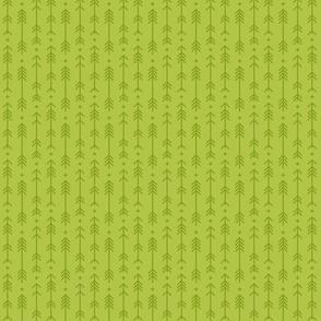 tiny cross + arrows lime green tone on tone
