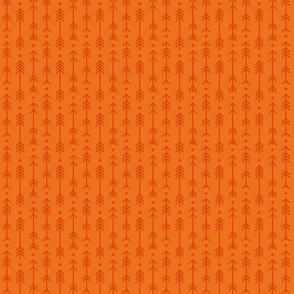 tiny cross + arrows orange tone on tone