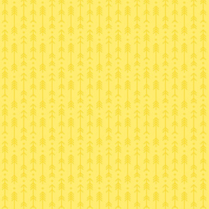 tiny cross + arrows lemon yellow tone on tone