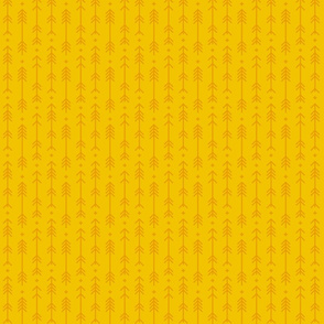 tiny cross + arrows mustard yellow tone on tone